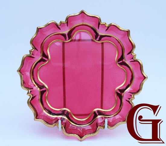 CRANBERRY GLASS PLATE