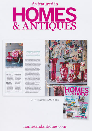 AS FEATURED IN HOMES AND ANTIQUES MAGAZINE