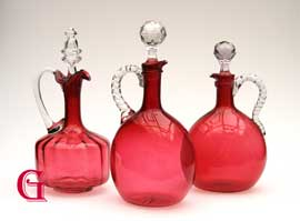 cranberry glass decanters