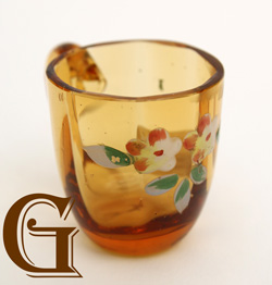 amber glass tot