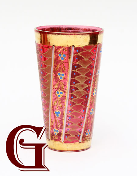 cranberry JUICE glass MOSER